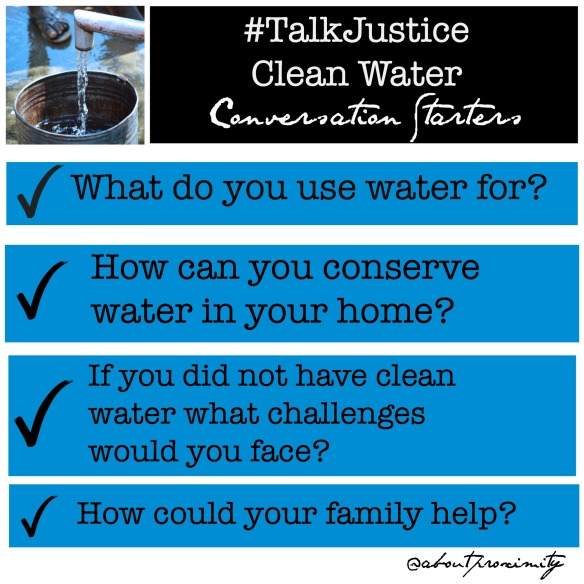 cleanwater conversation starters