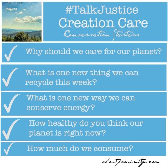 creation care conversation starters