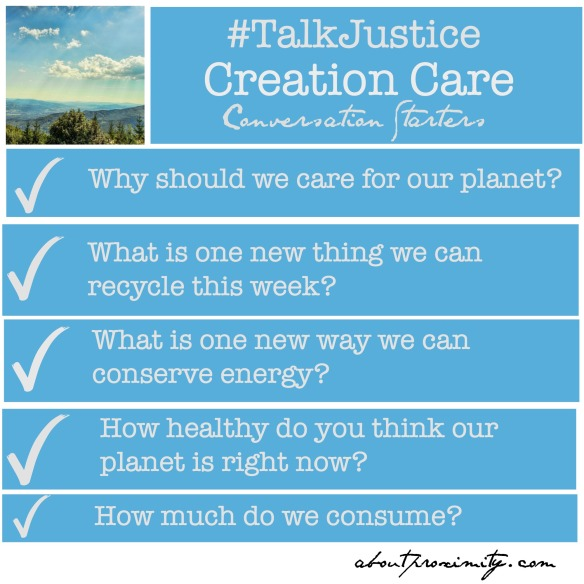 creation care conversation starters