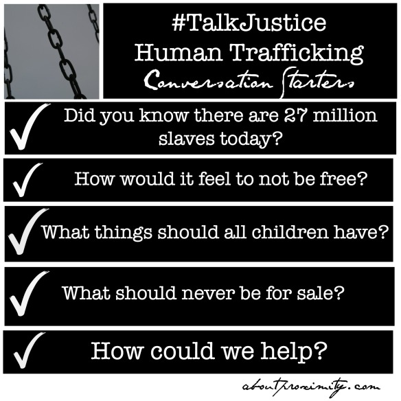 human trafficking conversation starters