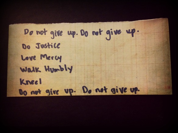 Do not give up